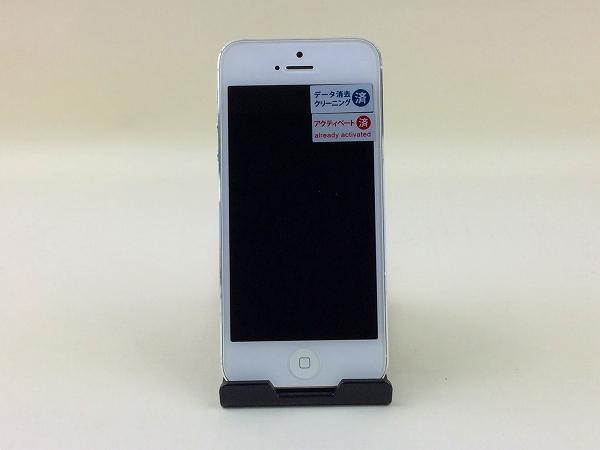 【中古】【安心保証】 SoftBank iPhone5[32GB] ホワイト&シルバー