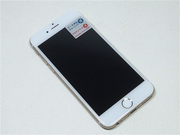 【中古】【安心保証】 SoftBank iPhone6[64G] ゴールド