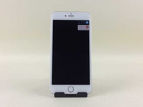 【中古】【安心保証】 au iPhone6Plus[64G] シルバー
