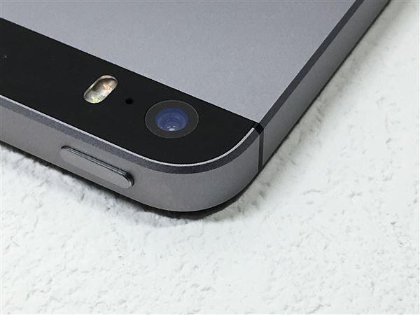 【中古】【安心保証】 UQモバイル iPhoneSE[32G] スペースグレイ SIMロック解除済