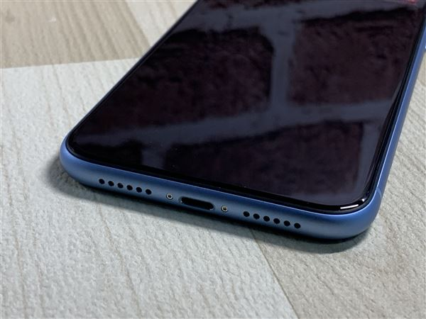 【中古】【安心保証】 au iPhoneXR[128G] ブルー SIMロック解除済
