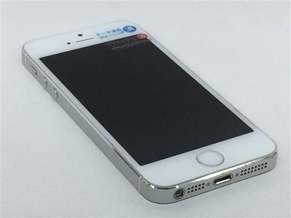 【中古】【安心保証】 au iPhone5s[32G] シルバー