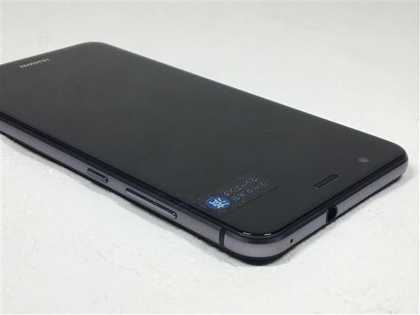 【中古】【安心保証】 UQモバイル P10lite ミッドナイトブラック
