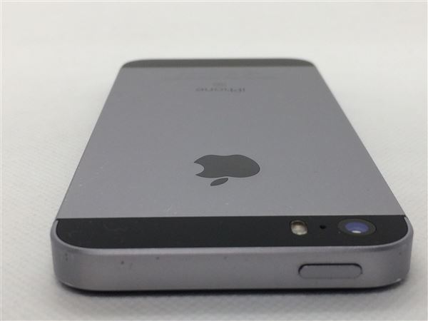 【中古】【安心保証】 docomo iPhoneSE[16G] スペースグレイ SIMロック解除済