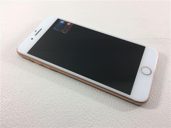 【中古】【安心保証】 au iPhone8Plus[256G] ゴールド