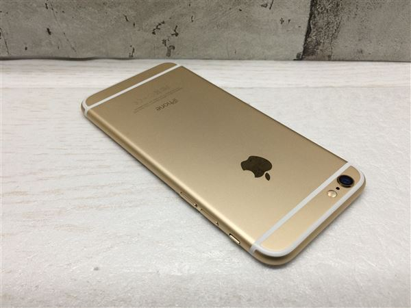 【中古】【安心保証】 au iPhone6[128G] ゴールド