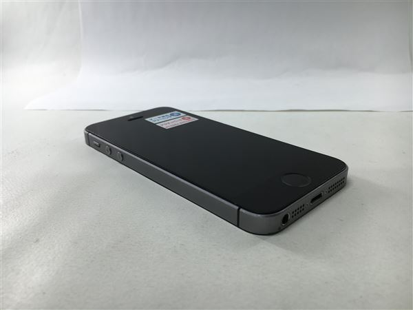 【中古】【安心保証】 SoftBank iPhoneSE[64G] スペースグレイ SIMロック解除済