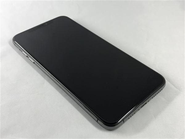 【中古】【安心保証】 au iPhoneXSMax[64G] グレイ