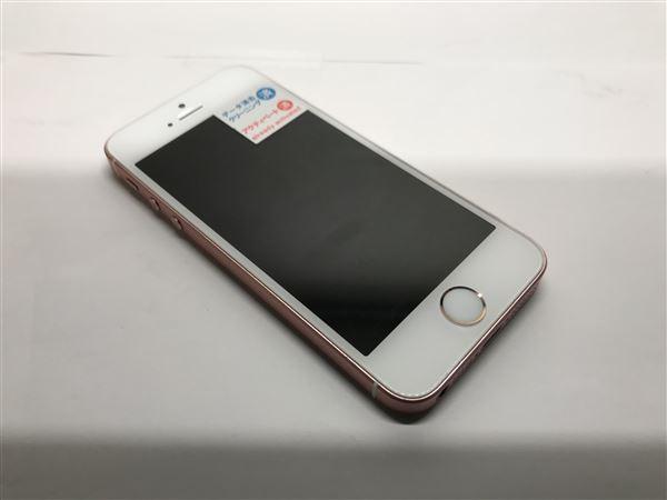 【中古】【安心保証】 SoftBank iPhoneSE[16G] ローズゴールド