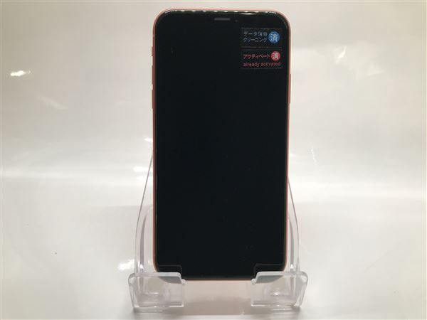 【中古】【安心保証】 SoftBank iPhoneXR[64G] コーラル
