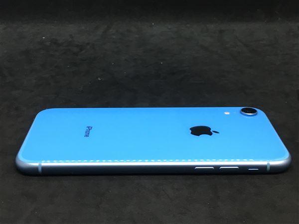 【中古】【安心保証】 SoftBank iPhoneXR[128G] ブルー