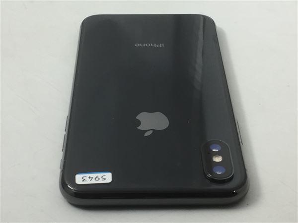 【中古】【安心保証】 au iPhoneX[64G] スペースグレイ
