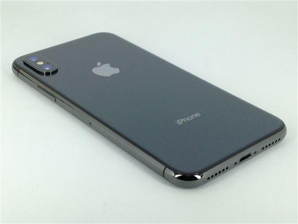 【中古】【安心保証】 au iPhoneX[256G] スペースグレイ