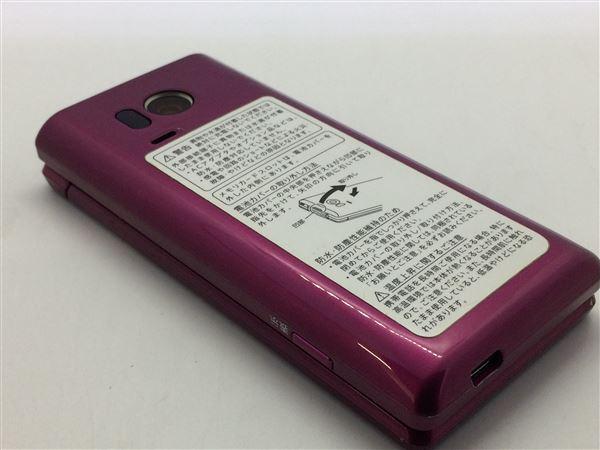 【中古】【安心保証】 SoftBank 505SH ワインレッド