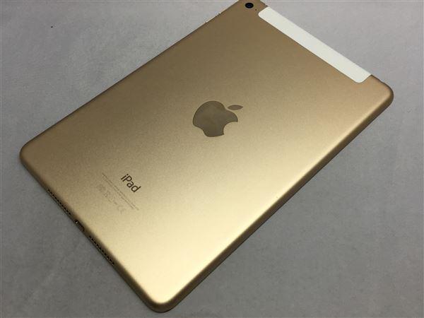 【中古】【安心保証】 SoftBank iPadmini4[セルラー128G] ゴールド