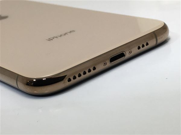 【中古】【安心保証】 docomo iPhoneXS[256G] ゴールド