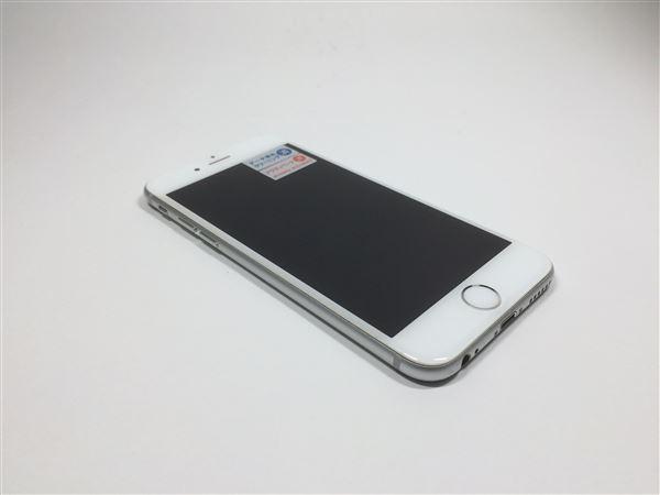 【中古】【安心保証】 au iPhone6[64G] シルバー