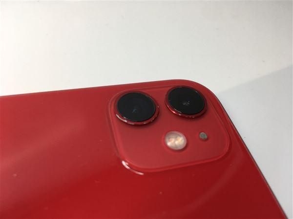 【中古】【安心保証】 docomo iPhone11[64G] レッド SIMロック解除済