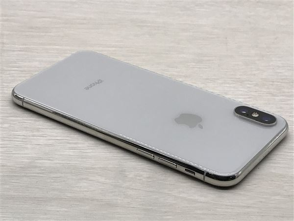 【中古】【安心保証】 docomo iPhoneX[64G] シルバー