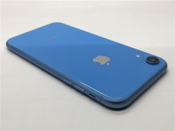 【中古】【安心保証】 au iPhoneXR[64G] ブルー