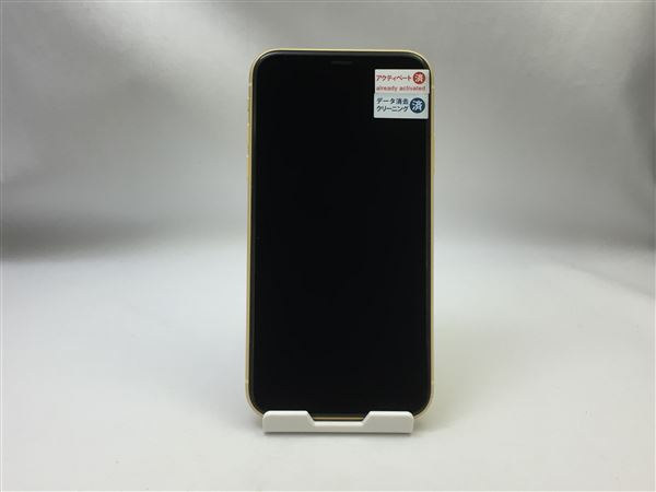 【中古】【安心保証】 SoftBank iPhoneXR[64GB] イエロー