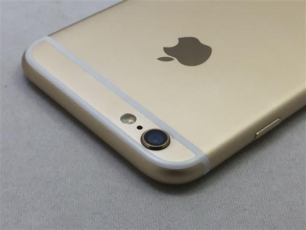 【中古】【安心保証】 au iPhone6[16G] ゴールド