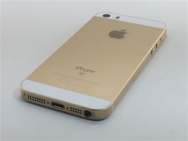 【中古】【安心保証】 SoftBank iPhoneSE[32G] ゴールド SIMロック解除済