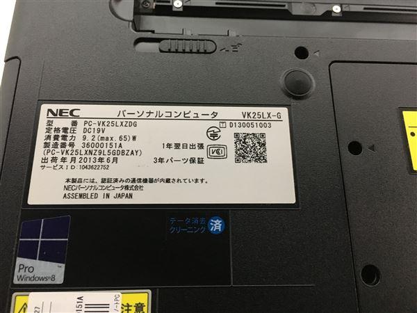 【中古】【安心保証】 NEC ノートPC PC-VK25LXZDG