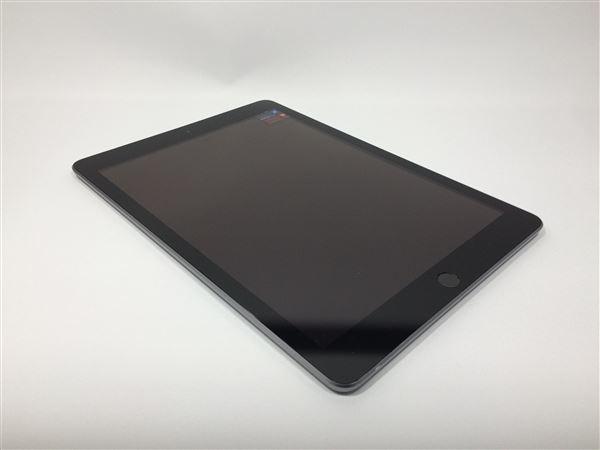 【中古】【安心保証】 au 9.7iPad 6[セルラー32G] グレイ