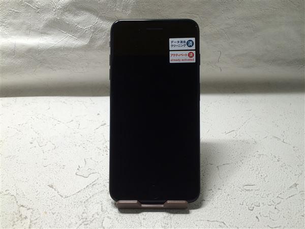 【中古】【安心保証】 au iPhone7Plus 128GB ジェットブラック SIMロック解除済