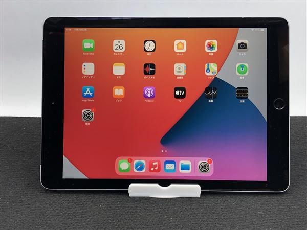 【中古】【安心保証】 au iPad-9.7_6[セルラー32G] グレイ