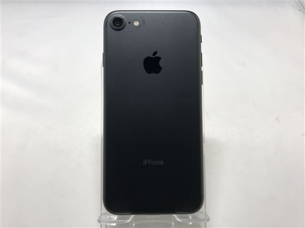 【中古】【安心保証】 au iPhone7[128G] ブラック SIMロック解除済