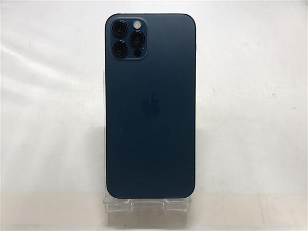 【中古】【安心保証】 SoftBank iPhone12Pro[512G] パシフィックブルー SIMロック解除