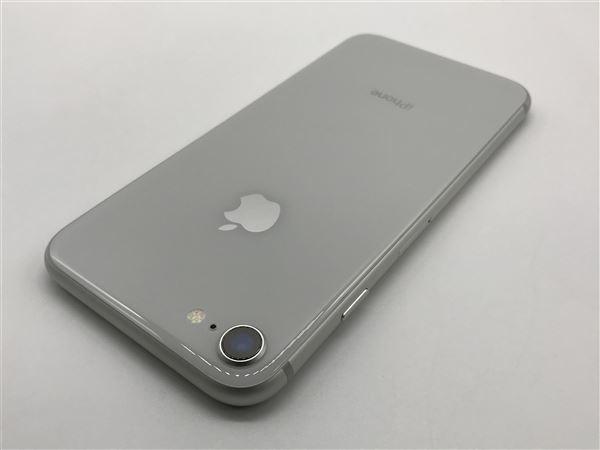 【中古】【安心保証】 au iPhone8[256G] シルバー SIMロック解除済