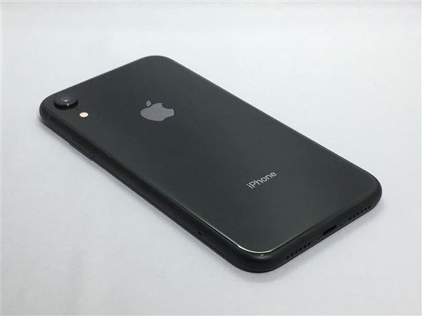 【中古】【安心保証】 SoftBank iPhoneXR[128GB] ブラック