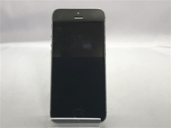 【中古】【安心保証】 SoftBank iPhone5s[16G] スペースグレイ