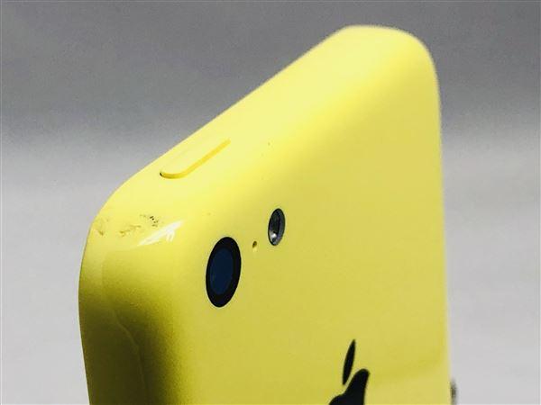 【中古】【安心保証】 au iPhone5c[32G] イエロー