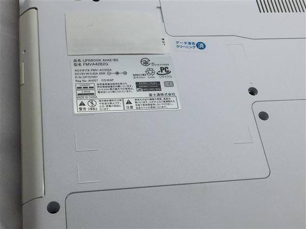 【中古】【安心保証】 富士通 ノートPC FMVA42B2G