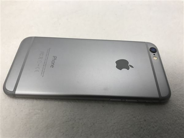 【中古】【安心保証】 au iPhone6[64G] スペースグレイ