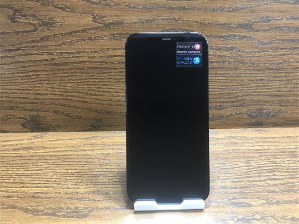 【中古】【安心保証】 au iPhone12Pro[128G] ブルー