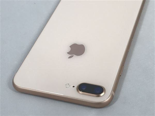 【中古】【安心保証】 au iPhone8Plus[64G] ゴールド