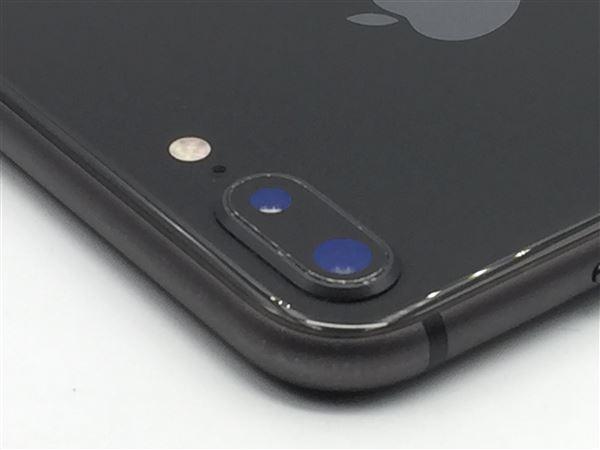 【中古】【安心保証】 au iPhone8Plus[256G] スペースグレイ