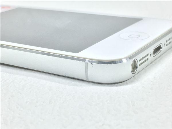 【中古】【安心保証】 SoftBank iPhone5[16G] ホワイト&シルバー