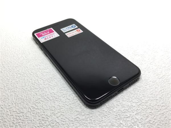 f4b69734ddfc 【中古】【安心保証】 au iPhone7 128GB ジェットブラック SIMロック解除済