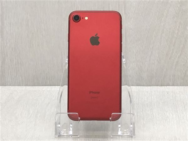 【中古】【安心保証】 SoftBank iPhone7[128G] レッド