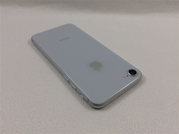 【中古】【安心保証】 au iPhone8[64GB] シルバー
