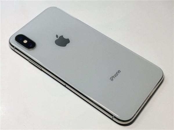 【中古】【安心保証】 au iPhoneX[64G] シルバー