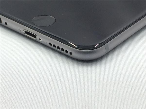 【中古】【安心保証】 au iPhone6[16G] スペースグレイ
