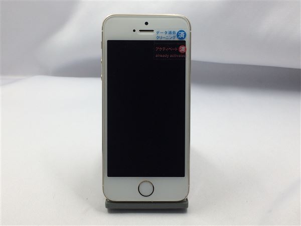 【中古】【安心保証】 SoftBank iPhone5s[16G] ゴールド