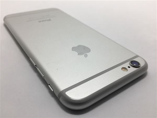 【中古】【安心保証】 au iPhone6[128G] シルバー